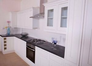 Image is loading mfi-kelmscott-Howdens-Haworth-Solid-Oak-Kitchen-Doors- & mfi kelmscott Howdens Haworth Solid Oak Kitchen Doors in White ...