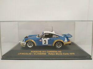1-43-PORSCHE-911-CARRERA-RS-NICOLAS-1978-IXO-RALLYE-CAR-ESCALA-DIECAST-SCALE