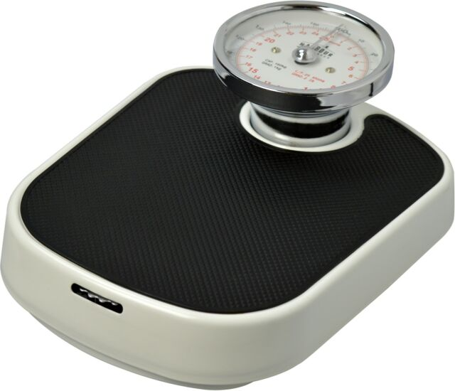Traditional White Mechanical Bathroom Weighing Scales 25st 160kg