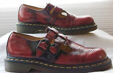 Dr. Marten Double Strap Cherry Red Black Marble Mary Jane US Sz 7  UK Sz 5 EUC
