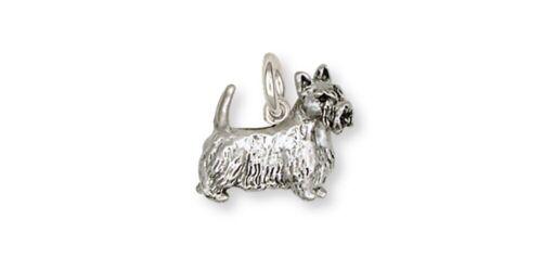 Scottie Scottish Terrier Charm Handmade Sterling Silver Dog Jewelry SY8-C