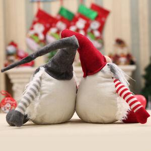 Natale-svedese-fatto-a-mano-Babbo-Natale-Decor-peluche-Natale-divertente