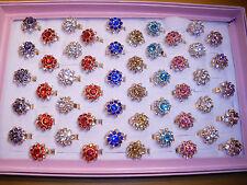 Joblot of 50pcs Diamante Fashion Rings - NEW Wholesale