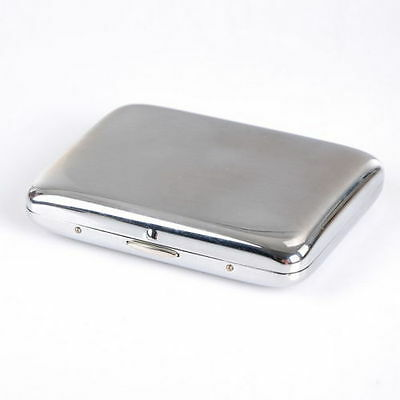 METAL CIGARETTE CASE....... Polished Silver Colour cigerette holder plain chrome
