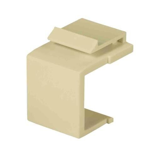 Eagle Blank Keystone Jack Insert Almond Cover Wall Plate QuickPort Flush 50 Pack