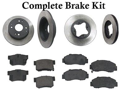 Complete Brake Kit Front+Rear Pads /& Rotors Opparts for Kia Sportage 05-08 V6