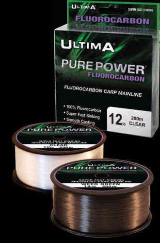 200 M Fishing Tackle Ultima Pure Power Flourocarbon ligne principale Vert 10 lb environ 4.54 kg
