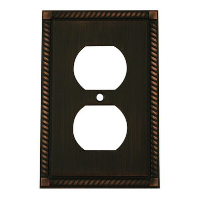 Oil Rubbed Bronze Single Duplex Outlet Wall Plate Cover 88033-ORB