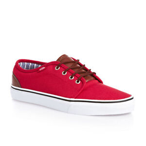VANS-106-VULCANIZED-SHOES-CANVAS-amp-LEATHER-CHINESE-RED-STRIPES