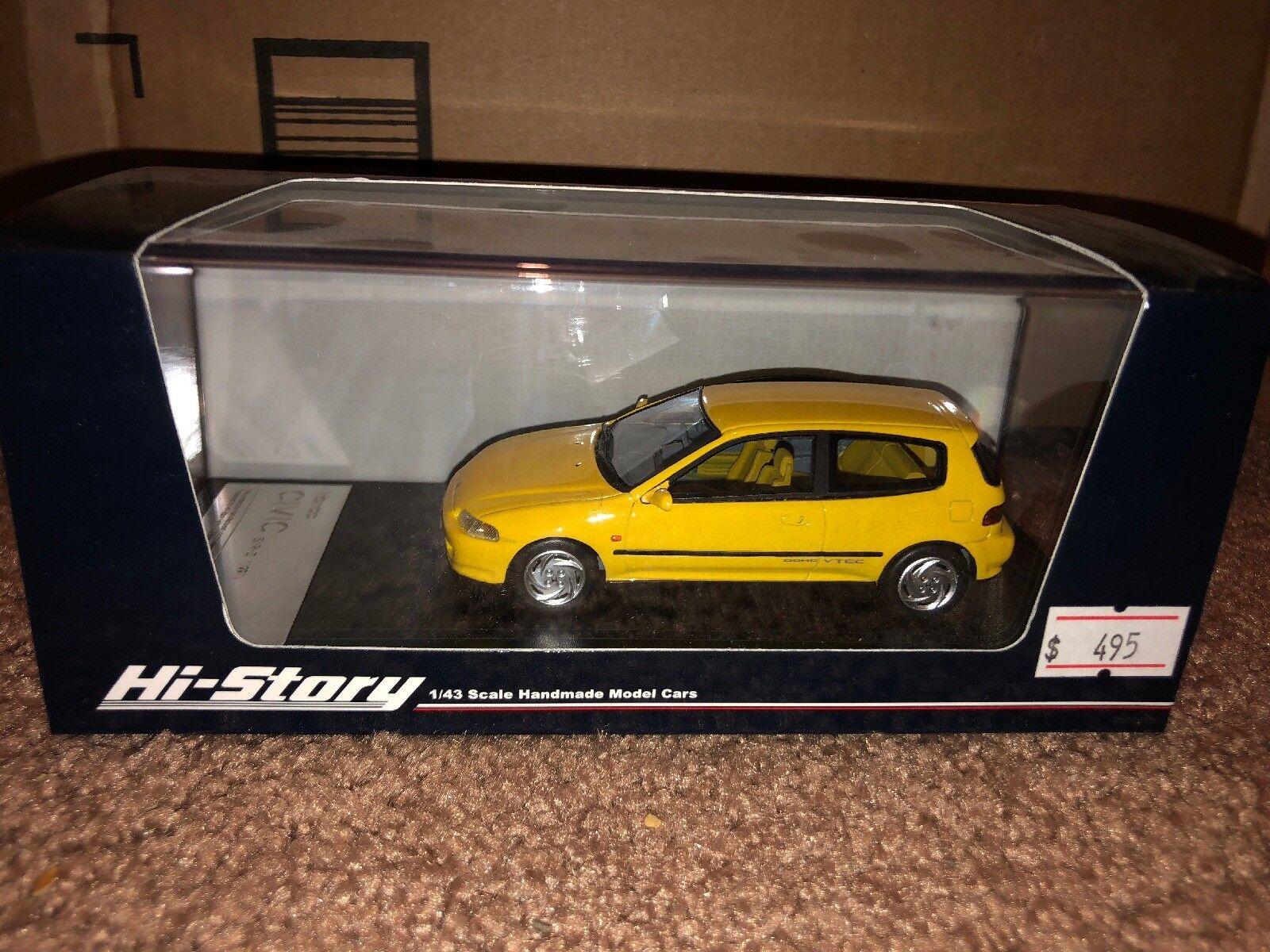 Hi-story 1 43 Honda Civic Yellow Resin EG SiR