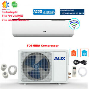 12000 BTU Ductless MINI Split Air Conditioner INVERTER with Heat Pump WiFi 115V