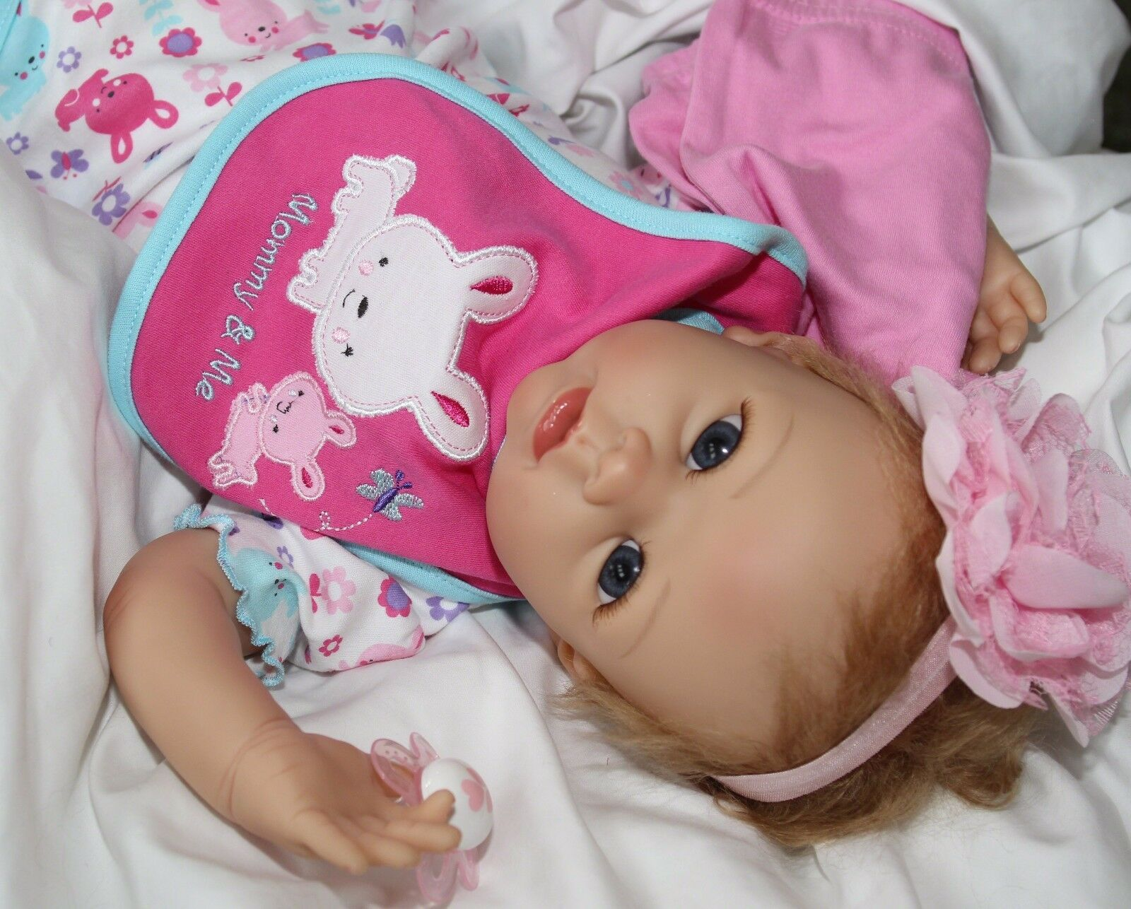 Mamá me ama  realista mueve 22 pulgadas Muñeca Bebé Niña Chupete + 2 conjuntos