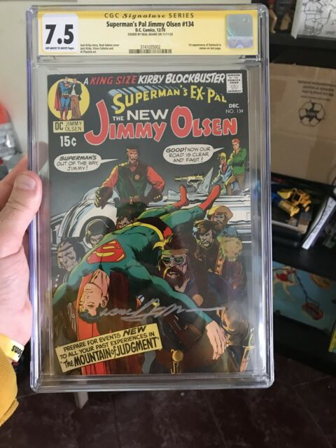Superman's Pal Jimmy Olsen #134 CGC 7.5 SS **Signed Neal Adams** 1st Darkseid