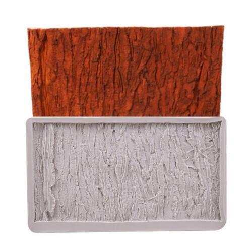 Silicone Tree Bark Texture Fondant Mould Chocolate Cake Decor Baking Mold BL3