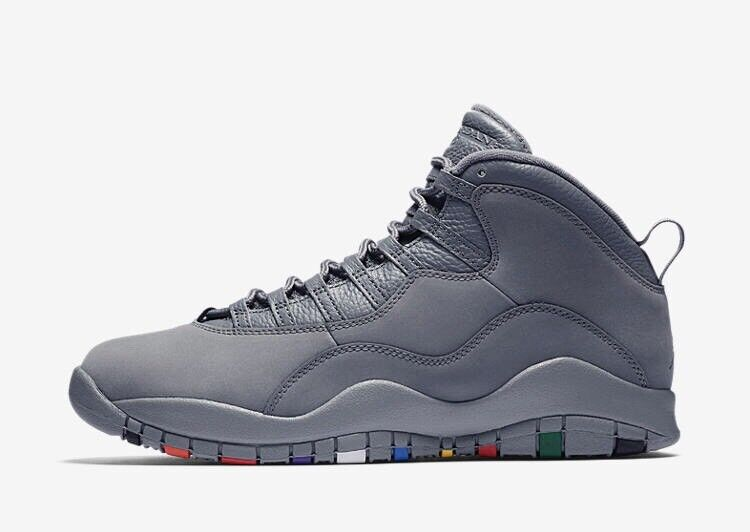 NEW DS 2018 Nike Air Jordan 10 X Retro Cool Grey Suede NRG 310805-022 Size 9