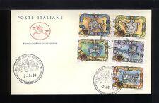 1993  ITALIA FDC CAVALLINO 2.10.1993 IL TASSO STORIA POSTALE SERIE 5 VALORI