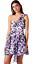 New ex Topshop Plum Floral One Shoulder Chiffon Party Dress RRP £55 Sizes 6-16