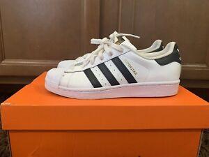 Adidas-Originals-Superstar-BY3712-Men-039-s-Athletic-Sneaker-Shoes-Black-White-Sz-7