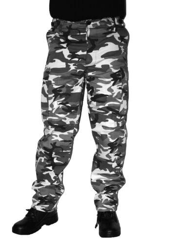 Army BDU Hose Urban Camo 100/% Baumwolle  Feldhose Armee Tarnhose Schneetarn BW