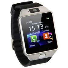 Silver DZ09 Bluetooth Smart Watch Phone Mate GSM SIM For Android iPhone Samsung