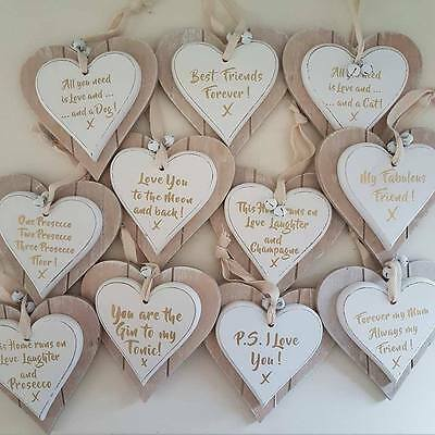 Forever/' personalised wedding sign Distressed chic heart /'I Do....