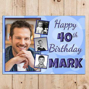 Personalised-18th-21st-30th-40th-50th-Happy-Birthday-PHOTO-Poster-Banner-N92