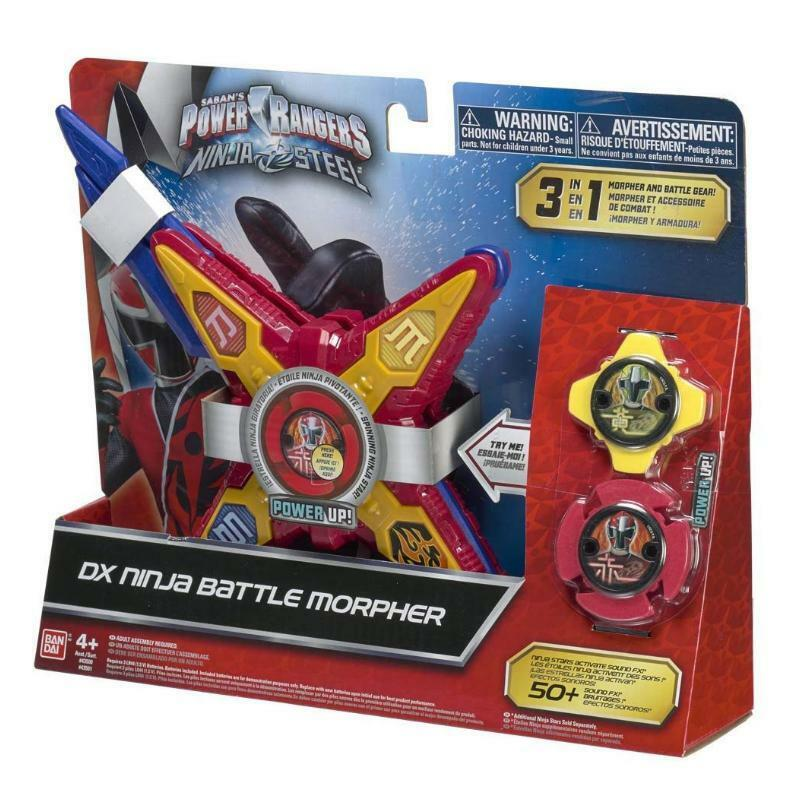 POWER RANGERS NINJA STEEL DX NINJA BATTLE MORPHER 3 IN 1 SOUND FX TOY