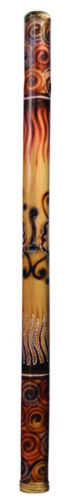 Didgeridoo Bamboo burned-painted 47  long (with bag)