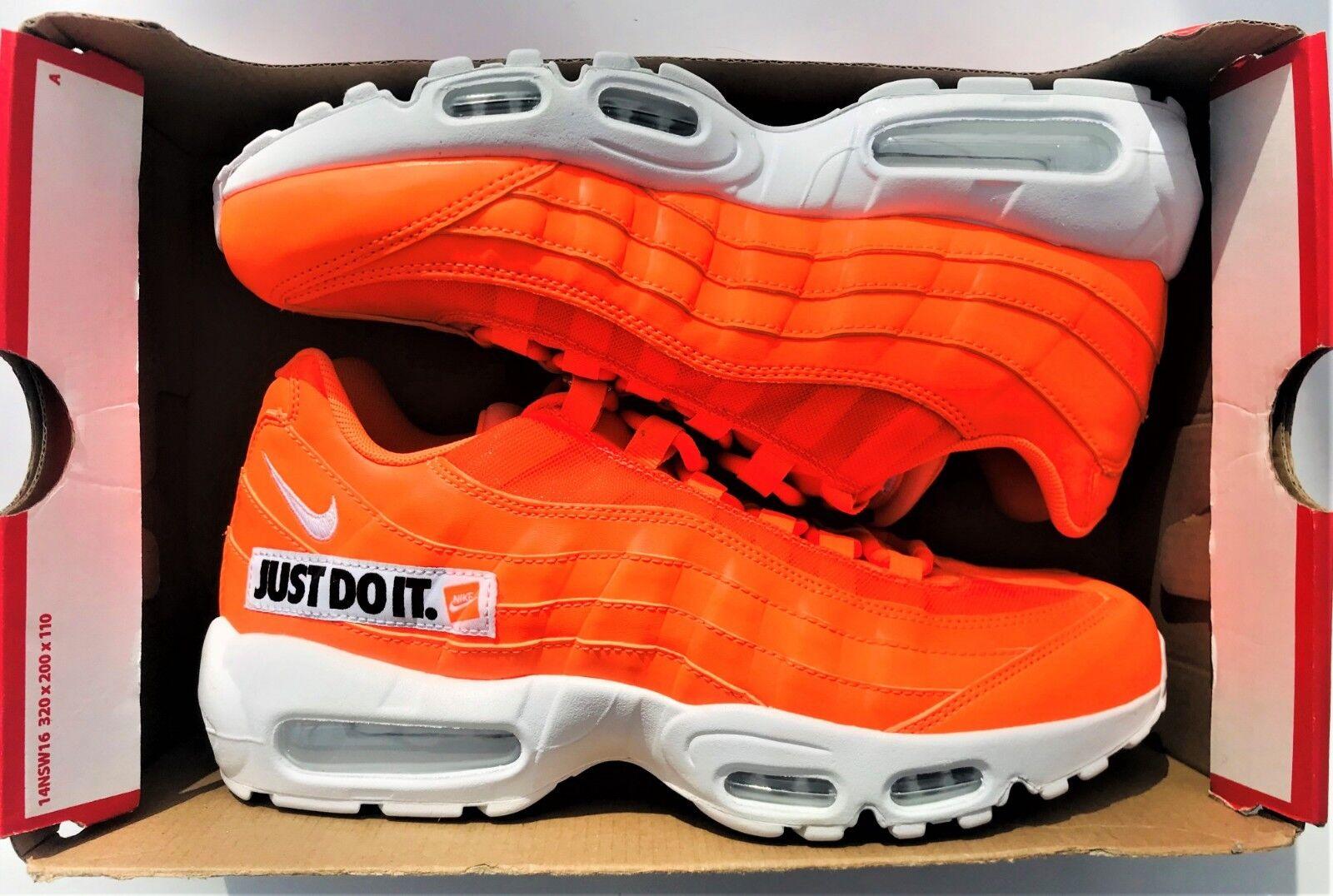 Nike Air Max 95 SE AV6246-800  Just Do it  Total orange Men Sz 8.5, Women Sz 10