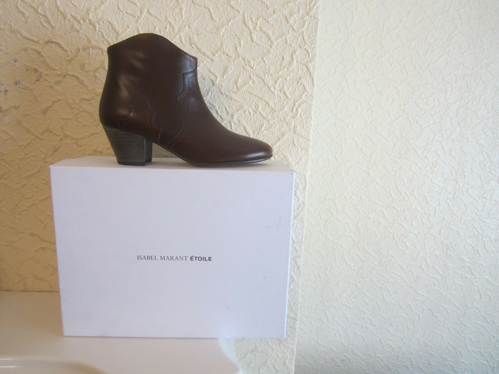 Isabel Marant Etoile Dicker Leather Ankle Boots Boots Boots size 36 896a4b