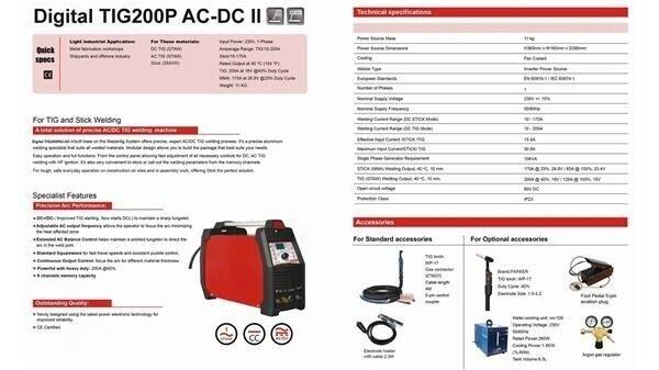 Svejser Digital TIG200P AC/DC