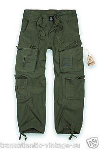 Hombre-Pantalones-De-Combate-Excedente-Militar-Ejercito-Cargo-Pantalones-de-trabajo-puro-Vendimia