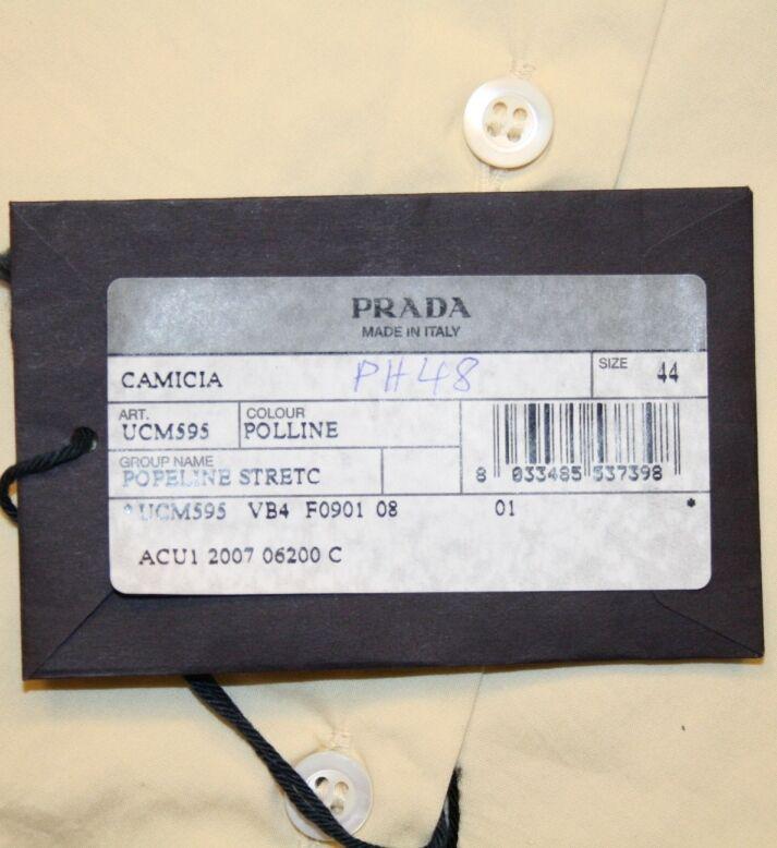 PRADA MILANO LUXUS HEMD SHIRT CAMICHE CAMISA Gr. 40 NEU UCM595 POLLINE STRETCH     | Günstige Bestellung