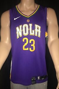 wholesale dealer 6855b 6c584 New Orleans Pelicans NOLA Nike City Series Swingman Anthony ...