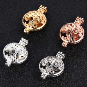 1Pc-Gold-Silver-Plated-Tree-Of-Life-Pearl-Cage-Beads-Locket-Pendant-Jewelry-Gift