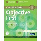 Objective First Student's Book Without Answers with CD-ROM by Annette Capel, Wendy Sharp (Mixed media product, 2014)
