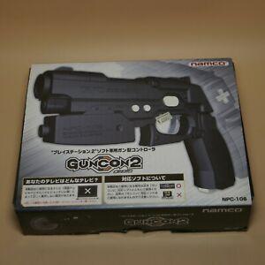PlayStation-2-Light-Gun-Con-Namco-NPC-106-PS2-Guncon-in-Box-Made-in-Japan-Black