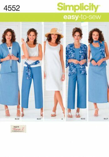 simplicidad - 4552-M Gratis Reino Unido P/&p fp Simplicity Sewing Pattern 4552
