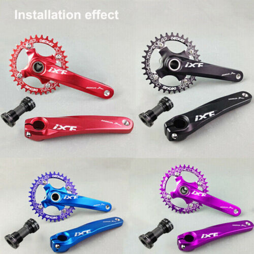 Single//Double//Triple 7//8//9//10//11s 104bcd Chainring MTB Bike Crankset Crank set