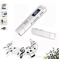 8gb Usb Lcd Screen Digital Audio Voice Recorder Dictaphone Mp3 Player Mini Size