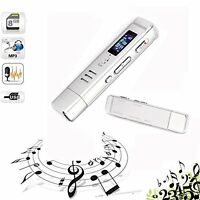 8gb Usb Lcd Screen Digital Audio Voice Recorder Dictaphone Mp3 Player Mini Size