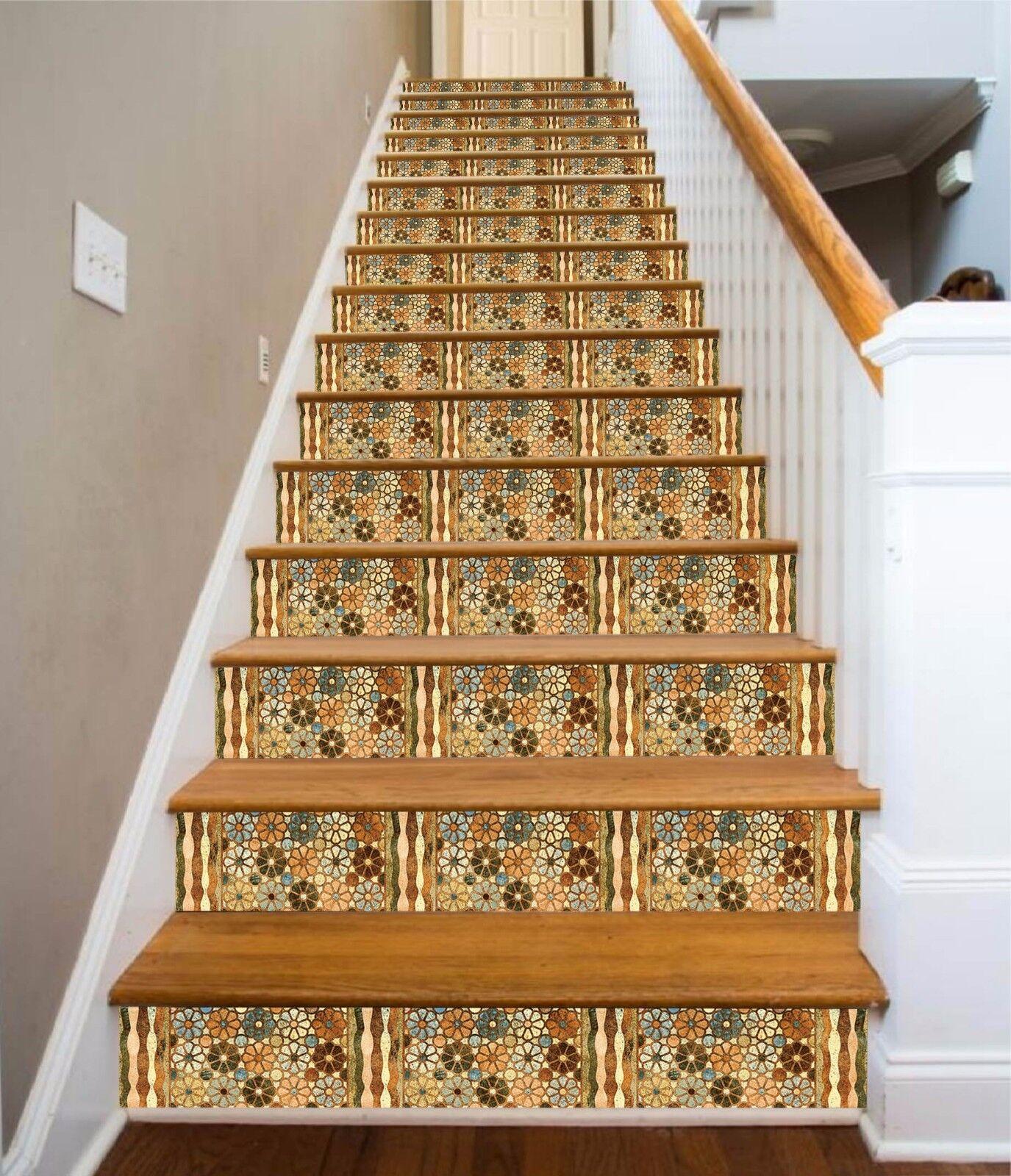 3D Blume 416 Stair Risers Dekoration Fototapete Vinyl Aufkleber Tapete DE Lemon