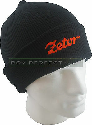 Zetor Tractor Black Knitted Winter Hat