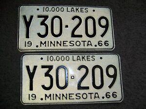 Alaska Minnesota license platepair ------mint-----------y30-209---truck