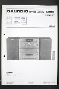 image is loading grundig-ccd-680-original-stereo-system-service-manual-