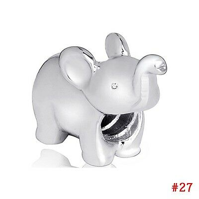 Cute animal 925 sterling silver european charms bead For PAN bracelet jewelry UK