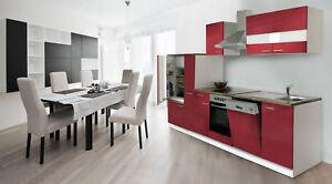 Cucina Angolo Blocco Vuoto Incasso Respekta 310 cm Bianca e Rossa | eBay