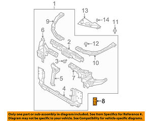 NISSAN OEM 03-07 Murano Radiator Core-Side Support Right 62520CA00A