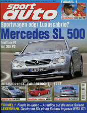 sport auto 11/01 2001 Civic Type-R Irmscher Seventy Seven SL 500 MG ZS 911 GT3 H
