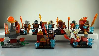 Set of 8 Chima Minifigures with accessories Building Block Toys Fast USA Shipper